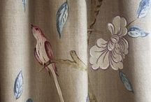 Fabric OPTIONS / Wouldn't you love to fill your home with beautiful fabrics?  There's a design for everyone, from countryside, whimsical, nature, flowers to ethnic .  Play around with fabrics in your home, mix and match the prints of curtains and upholsteries.