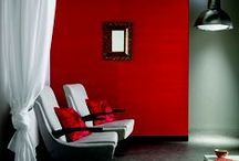 Painting the TOWN RED! / RED is the colour of LOVE, VITALITY and LIFE-FORCE.  Engulf in this POSTIVE ENERGY!Translate these positive feelings into your living space with these RED interiors!
