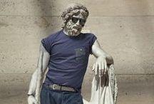 léo Caillard Hipster in stone