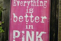 Pink to make you wink! / All the lovely pink things. Pink is a happy and fun colour. We love it.