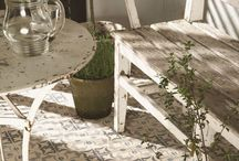 Ideas for Outdoors. / We love these gardens. We have a lovely selection tiles suitable for creating elegant patio areas and paths.