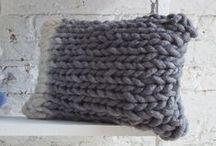 + p i l l o w s  crochet // knitting
