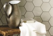 Happy Hexagons / Hexagons are on trend. Here are some ways to use them in your home. We have a lovely collection of Hexagons at Welby & Wright.