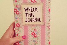 ♡Wreck this Journal♡ / ♡Let your imagination fly♡