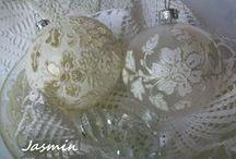 Bombki-moje prace II / Vintage, koronkowe, richelieu
