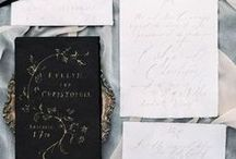 Wedding Stationary / Showing my love for quotes, calligraphy, graphic design and wedding stationary.