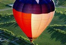 hot-air balloons