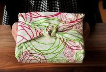 Fabric Bags / Fabric bags.  Pretty way to wrap gifts and make gift bags.
