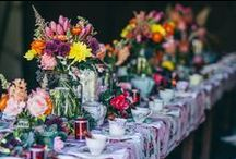 Outdoor wedding rustic / Vintage crockery wedding setting