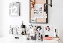 *WORKSPACE & HOME OFFICE / Workspace and home office ideas, office desks, mood board, workspace ideas, stationary
