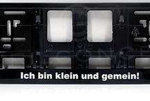 Kennzeichenhalter, Nummernschildhalter schwarz (glänzend)