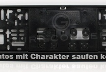 Personalisierte Kennzeichenhalter 460mm x 110mm mit Wunschdruck