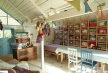 workspace ideas / Planning a new craft room - in an ideal world!