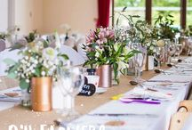 Centrepieces | Wedding Inspiration / Inspiration on how you could style your wedding tables.  Wedding styling | wedding flowers | wedding tables | wedding centrepieces