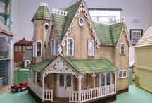 butterfly dollshouses / Dollshouses - or dollhouses if you're from the US! - made or renovated by Alison Bomber of Words and Pictures. Mixed Media and craft supplies turned to a different use.  My work on the dollshouses of Small Worlds - museum in the Czech Republic