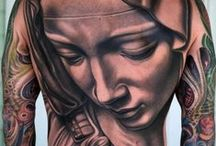 TATTOOS..BODY ART / NO frontal genital or gratuitous nudity per Pinterest. Their rules state NO erotic poses. .CLEAR VIEWS OF THE TATTOO ART ..........