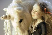 Felt art /  I can't believe how real some of these little dolls and animals look  / by Audrey carlson