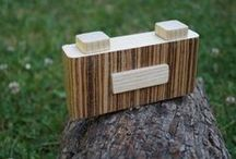 Wooden Pinhole Camera / fully functional wooden pinhole camera for 35mm film
