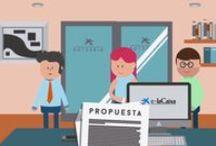 EnnovationContest Promotional Video / Video promocional animado para presentar y explicar el funcionamiento del nuevo EnnovationContest 2015 para el portal interno de Elacaixa