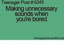 Teenage posts...