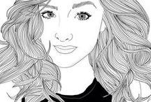 tumblr girl drawings