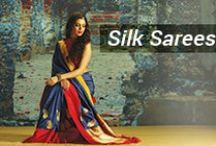 "Silk Saree / ""Explore the finest range of silk saree designs in printed, satin and designer format online at saree.com. Pure SILK SAREES with 100% Original Guarantee! Buy now"