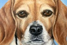 Dog portraits / Custom oil portraits of dogs. Message or visit amzfineart.com for more information