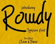 Rowdy Typeface / Hello I'm really excited to introduce Rowdy typeface.   https://creativemarket.com/madeDeduk/1639207-Rowdy