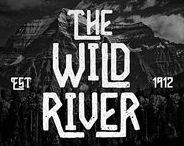 The wild river typeface / Hello I'm really excited to introduce Wild River with vintage style font with cool character! Wild River perfect for poster design, book covers, merchandise, fashion campaigns, newsletters, branding, advertising, magazines, greeting cards, album covers, and quote designs and more.   visit my store for more great fonts :   https://creativemarket.com/madeDeduk   https://www.fontspring.com/foundry/madededuk