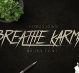 Breathe Karma brush typeface / Hello I'm really excited to introduce Breathe Karma is a brush typeface font inspired from classic and old style. suitable to create any branding, product packaging, invitation, qoutes, t-shirt, label poster etc.   https://creativemarket.com/madeDeduk/1638818-Breathe-Karma