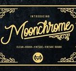 Moonchrome typeface + Bonus / Hello I'm really excited to introduce, Moonchrome typeface font with with 4 alternate variations. This monoline typeface perfect for poster design, book covers, merchandise, fashion campaigns, newsletters, branding, advertising, magazines, greeting cards, album covers, and quote designs and more.