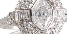 Art Deco Diamond Engagement Rings / Stunning unique, Art Deco Diamond Engagement Rings by Rutherford.