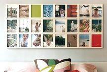 Zdjęcia na ścianie & Prints on the wall / Tablica z pomysłami na wykorzystanie zdjęć do dekoracji domu