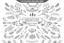 Decorative Hand Drawings / - curls, swirls, ornaments and more -