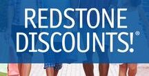 Redstone Discounts! / Our members can save when they use their Redstone debit or credit card. Simply use your card at the retailers below and ask for Redstone Discounts! Shop local and save today!