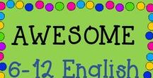 AWESOME 6-12 English/Grammar TPT / This is a collaborative board about the best and greatest from TPT sellers of English/Grammar for grades 6-12! Just e-mail me at rozellmail@gmail.com or message me through Pinterest if you'd like to join! Also, please follow my boards and pin items from here to your boards! Let's make this a win-win! Thanks!