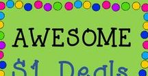 AWESOME $1 deals / This is a collaborative board about the best and greatest from TPT sellers that are only ONE dollar! Just e-mail me at rozellmail@gmail.com or message me through Pinterest if you'd like to join! Also, please follow my boards and pin items from here to your boards! Let's make this a win-win! Thanks!