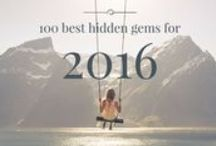 100 best hidden gems for 2016 / 'What are your favorite places in the world?' is what we asked our 150+ Travel Designers. Discovering the world place by place, our local experts, travel bloggers, and journalists collected their hidden gems for you! Looking for some adventure in your travels, yet have no clue what the most amazing places in the world are? You can find your list here! http://blog.favoroute.com/the-most-amazing-places-in-the-world/