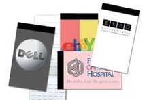 Custom Notepads & Stickynote Ideas / Show off your company logo in full color on every page! The classic adhesive sticky notes or notepads never go out in style, and are a great way to show off your custom logo design or brand name.