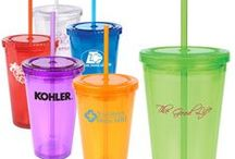 Custom Tumbler Drinkware Ideas / Surprise recipients with a custom tumber! Promotional tumblers are great for that first cup of morning coffee at the office- and gains great exposure for your brand name or company logo. Never go unnoticed again with this effective promotional tumbler hand-out or gift!