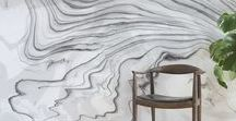 Sumi Installations / The Sumi Collection is named after the Japanese tradition of Suminagashi marbling. This ancient art form involves floating richly colored inks in water to create naturally emerging patterns.