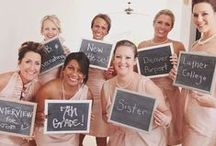 Bridesmaids at Weddings / Ideas to celebrate all things girly #bridesmaids