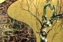 japanese art / Accatastata per il fuoco, la fascina comincia a germogliare. Boncho