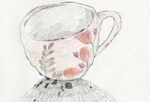 Art of tea /   Ascolto in questa notte il letargo invernale pioggia sui monti.  Kobayashi Issa