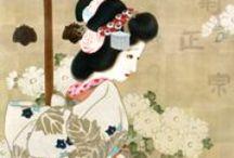 japanese poster / shiraume no kareki ni modoru tsukiyo kana  il pruno bianco – ritorna legno secco – notte di luna  Yosa Buson