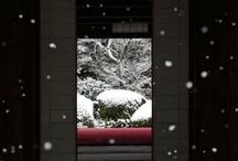japan / La luna e il prugno  E' quasi pronto lo scenario di primavera la luna e il prugno. Matsuo Basho