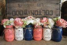 Wedding Theme: Navy & Coral / Navy and coral wedding day colour scheme