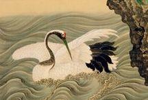 Japanese cranes (Tsuru)