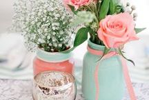 Wedding Theme: Coral & Mint / A pretty colour combination for your wedding day.
