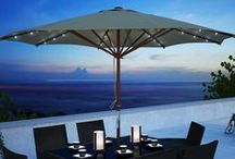 Patio Umbrellas / Protect yourself from the sun with this durable, weather resistant patio umbrellas.
